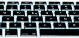 image of qwerty  - QWERTY is the most common modern - JPG