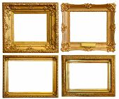 Set Of  Luxury Gilded Frames