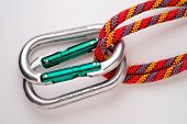 Mountaineering: Doubled Oval Aluminium Carabiners (Safe)