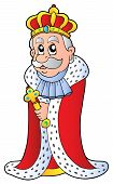 picture of sceptre  - King holding sceptre on white background  - JPG