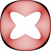 stock photo of x-rated  - Abstract 3D design for use as an ornament icon emblem etc - JPG