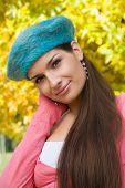 Autumn portrait of a gorgeous girl