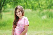 Girl in the green field