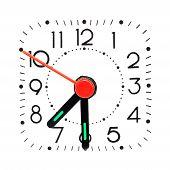 Relógio mostrando 07:30