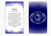 Sixth, Third Eye Chakra - Ajna. Illustration Of One Of The Seven Chakras. The Symbol Of Hinduism, Bu poster