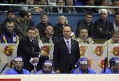 The Head Coach Of Kazakhstan Andrei Khomutov