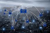 Padlock Over Eu Map, Symbolizing The Eu General Data Protection Regulation Or Gdpr. Designed To Harm poster