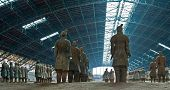 image of exhumed  - Site of terracotta soldiers in a row - JPG