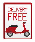 delivery free sign