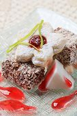 Lamingtons And Jam Biscuits