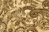 Old paisley pattern background