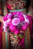 Indian Brides Hands Holding Bouquet
