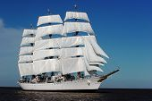 Big sailing ships. The