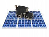 house and solar cell