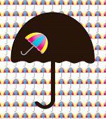 Background with umbrellas