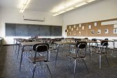 Empty School Class Room