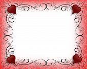 Valentine Hearts Fancy Border