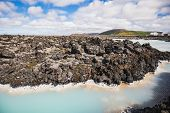 Colorful Water Landscape In The Famous Blue Lagoon Iceland poster