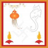 stock photo of ganpati  - Ganpati Diwali Card - JPG