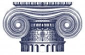 picture of ionic  - Vector Ionic column - JPG