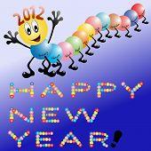 Ciempiés lindo desea un feliz año nuevo