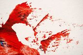 Abstract Red Hand Painted Acrylic Background, Creative Abstract Hand Painted Colorful Background, Cl poster