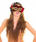 stock photo of nudity  - Masked Nudity Alluring - JPG