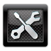 Tools metal icon