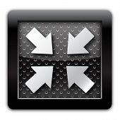 Reduced arrow metal icon