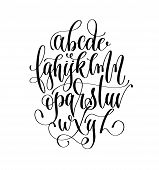 Black And White Hand Lettering Alphabet Design, Handwritten Brush Script Modern Calligraphy Cursive  poster