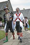 Two Dartington Morris Men Share A Joke At The Opening Ceremony Of The Tagore Festival, To Celebrate