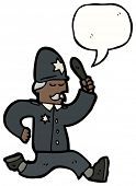 pic of truncheon  - cartoon running british policeman - JPG