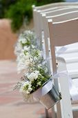 foto of lawn chair  - aisle chairs at a wedding - JPG