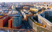 Aerial View And Modern Apartment Residential Building Architecture Potsdamer Platz Reflex poster