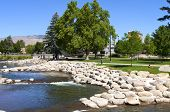 Park And River Near Downtown Reno, Nv.
