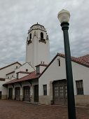 picture of boise  - The former Boise Train Depot is shown on a cloudy day - JPG