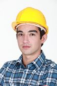 Young male builder