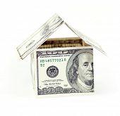 abstrakte Dollar Konzept bedeutet Hypothek oder Verpfändung
