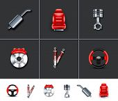 Car parts icons 2