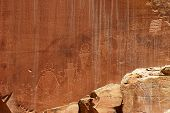 Petroglyphs Of Capitol Reef