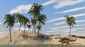 kentrosaurus on shore