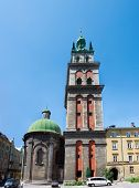 Kornyakt`s Tower In Lviv Ukraine