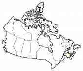 Map Of Canada, New Brunswick Highlighted