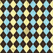Seamless tile grunge argyle background