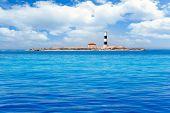 Formentera Freus faro en Pou lighthouse Porcs island de los puercos
