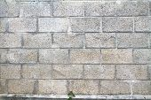 A Grey Cinderblock Wall Background