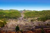 Río de lava de Barranco de las Angustias de la Caldera de Taburiente en La Palma