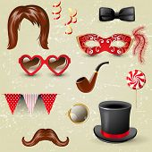 Retro-styled fancy dress elements