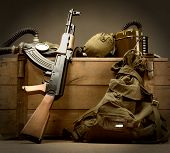 Kit of old USSR military equipment
