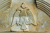 relief with blazon in monastery on Zakynthos island
